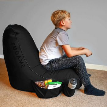 Black rugame Kids Gamer Bean Bag Chair - Black