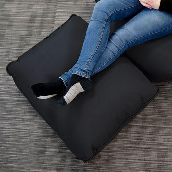 Black rugame Gamer Bean Bag Footstool - Black