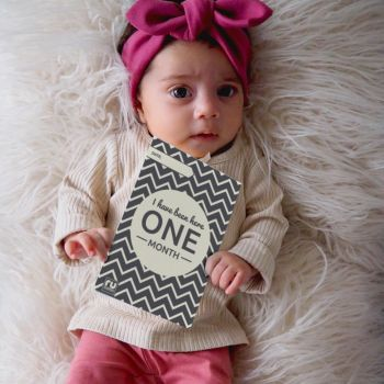 Baby Milestone Cards - Only £5 When Bought With Your gaga or gaga+ baby beanbag