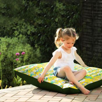 Heron Garden Floor Cushion - Indoor/Outdoor