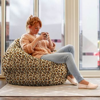 Leopard Print Slouchbag Beanbag