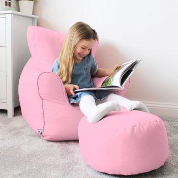 Children's Trend Armchair Bean Bag - Baby Pink