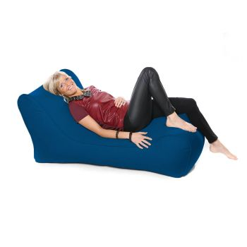 Outdoor Solo Lounger Beanbag In Royal Blue