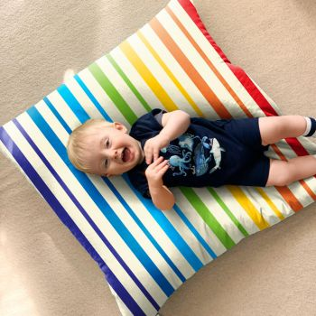 Rainbow Stripe Floor Cushion