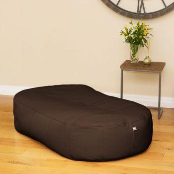 Brown Real Leather Large 150cm Slob Slab© Bean Sofa  Bean bags