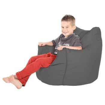 Children's Trend Armchair Bean Bag - Slate Grey