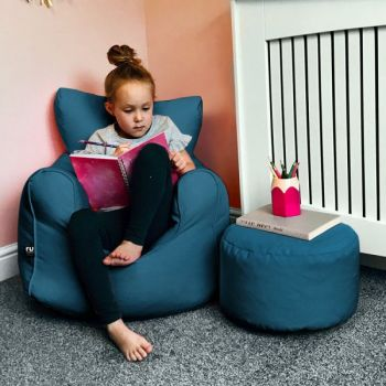 Childrens Armchair Beanbag - Trend - Teal