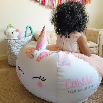 3D Horn Unicorn Kids Beanbag
