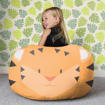 Kids Tiger Animal Beanbag - Small
