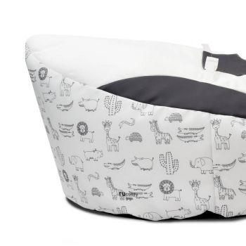 Zoo Animals Gaga™ Charcoal Baby Beanbag