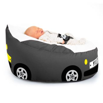 Luxury Cuddle Soft Car Gaga© Baby Bean bags In Charcoal