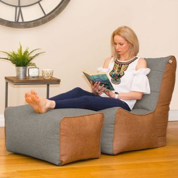 Barley Busby Chair and Ottoman Set