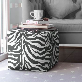Zebra Animal Print Bean Cube
