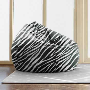 Zebra Print Slouchbag Beanbag