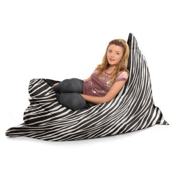 Luxury Faux Suede Animal Print Squashy Squarbie© Extra Large Beanbag