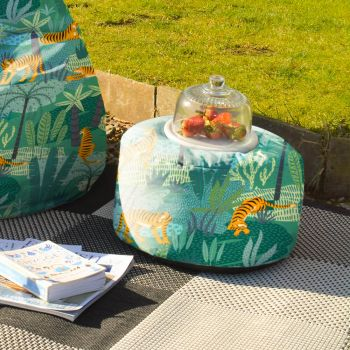 Jungle Tiger Outdoor Footstool