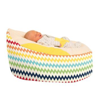 Chevron Gaga™ Yellow Baby Beanbag