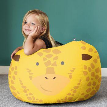 Kids Giraffe Animal Bean Bag