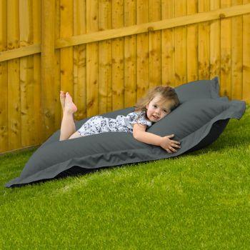 Indoor Outdoor Junior Squashy Squarbie Beanbag in Grey