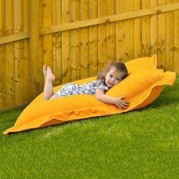 Indoor Outdoor Junior Squashy Squarbie Beanbag in Yellow