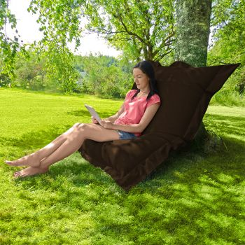 Indoor/Outdoor Squashy Squarbie© Brown Giant Outdoor Beanbags