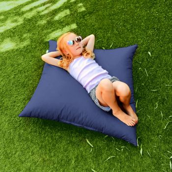 Royal Blue Indoor Outdoor Square Floor Cushion
