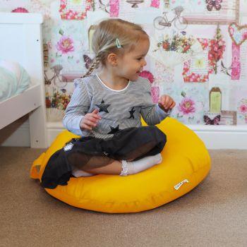 Yellow Indoor/Outdoor Kids Smarty Cushion Beanbag
