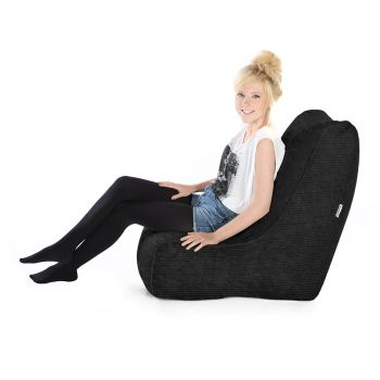 Jumbo Cord Solo© Chair Black Bean bags