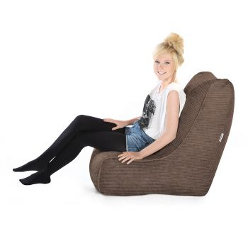 Jumbo Cord Solo© Chair Bean bags-Mocha