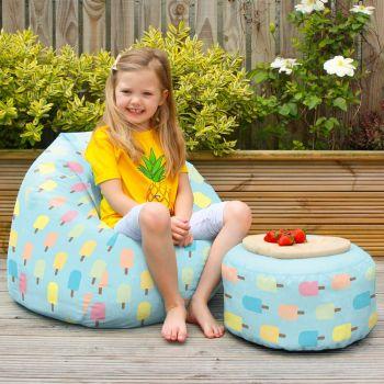 Lollipop print kids classic beanbag - indoor/outdoor
