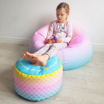 Mermaid Ombre Kids Classic Beanbag