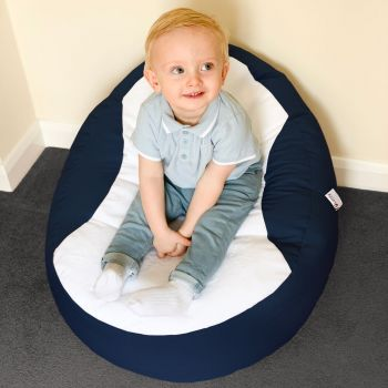 Gaga+ Baby to Junior Beanbag in Navy Blue