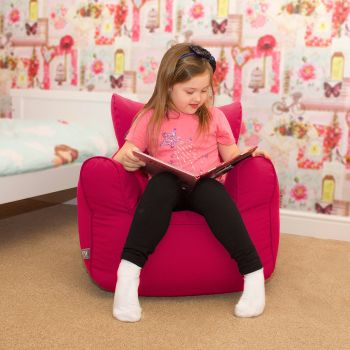 Children's Armchair Beanbag - Cerise Pink