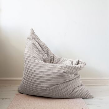 Platinum Grey Jumbo cord Floor Cushion