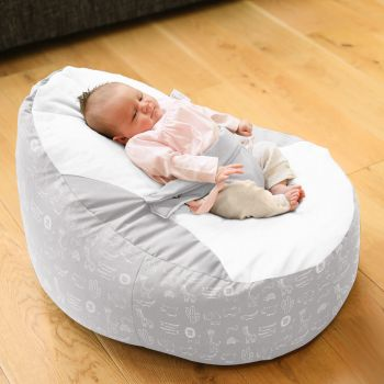 Zoo Animals Gaga™+ Baby to Junior Beanbag - Platinum Grey