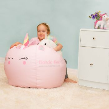 Kids Unicorn Beanbag with 3D Horn