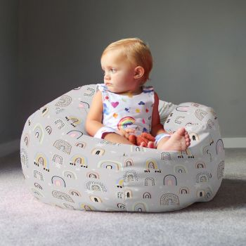 Rainbow and Stars Kids Small Beanbag