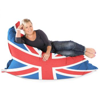 Union Jack Squashy Squarbie Bean Bag Adult Bean Bag