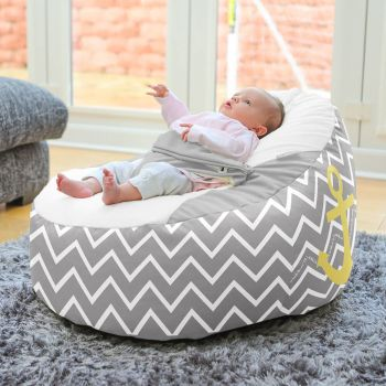 Sailor Gaga™+ Baby to Junior Beanbag - Platinum Grey