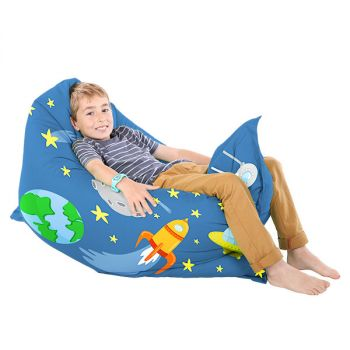 Space Travel Squashy Squarbie Bean Bag