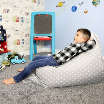 Platinum Grey Junior Squarbie Beanbag