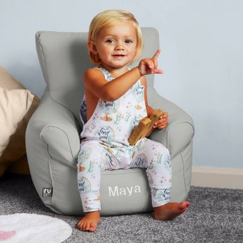 Toddler Armchair Bean Bag in Platinum