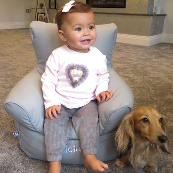 toddler beanbag chair - Platinum Grey