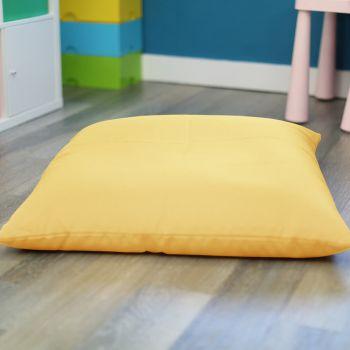 Lemon Yellow Kids Trend Square Floor Cushion Bean Bag