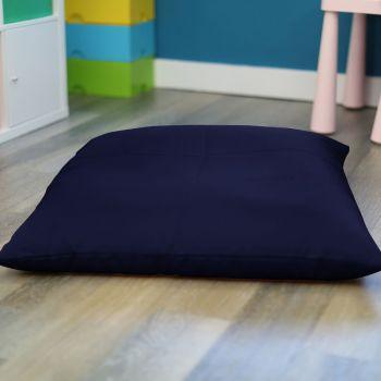 Navy Blue Kids Trend Square Floor Cushion Bean Bag