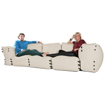 Modular Corner Sofa Bean bags - 5pc 3 Seater Set