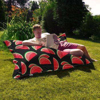 Junior Black Watermelon Indoor/Outdoor Summer Squashy Squarbie Outdoor Beanbags