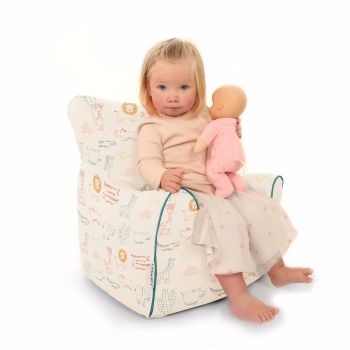 Zoo Animals Toddler Armchair Beanbag
