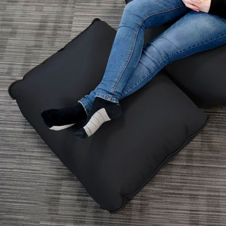 Black rugame Gamer Bean Bag Footstool - Black