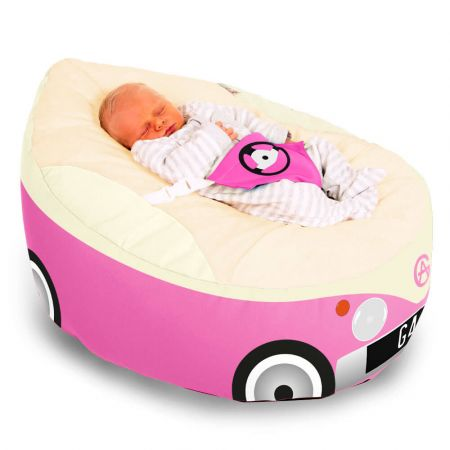 Campervan Gaga Baby Beanbag - Pink